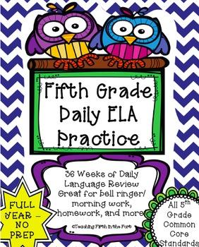 ELA Daily Morning Work/Bell Ringer NO PREP FULL YEAR Meets
