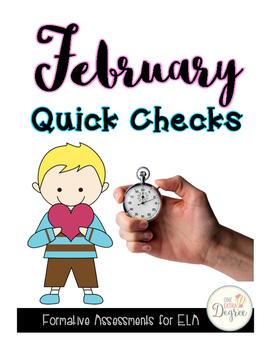 ELA February Quick Checks: No Prep Printables for Progress