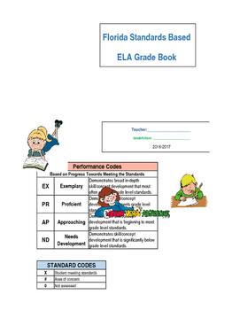 ELA Florida Standards Based Report Card 5th Grade