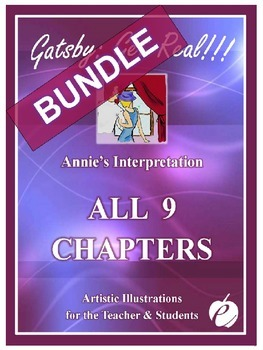 "ELA: GATSBY BUNDLE Chapters 1-9 – ""ALL Illustrations by Annie"""