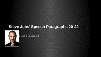 ELA Grade 6 Module 2a Unit 1 Ls 10 Steve Jobs Paragraph 20
