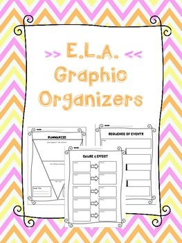ELA Graphic Organizers for Reading Comprehension