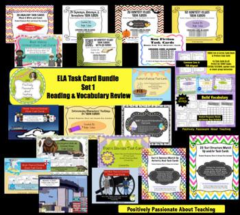 ELA Growing Task Card Bundle (LIFETIME ACCESS): Reading &