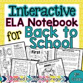 Back to School ELA Interactive Notebook (2nd Grade)