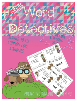 ELA Kinesthetic Learning Activity: Word Detectives Task Cards
