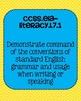 Common Core ELA Language Standards Posters 7th grade