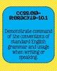 Common Core ELA Language Standards Posters 9th grade, 10th grade