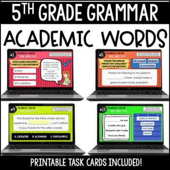 ELA Language Common Core Task Cards 5th Grade {L.5.6 Acade