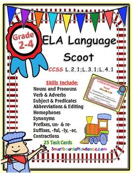 ELA Language Scoot, Grades 2-4