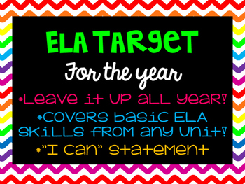 ELA Learning Target for the Year