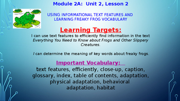 ELA Module 2A Unit 2 Lesson 2