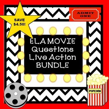 Language Arts Movie Questions Bundle