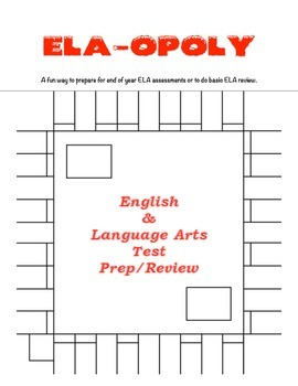ELA-OPOLY - English and Language Arts Skill and Test Review Game