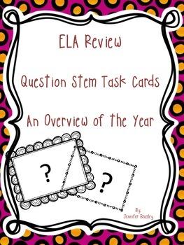 ELA Review Task Cards--FREEBIE