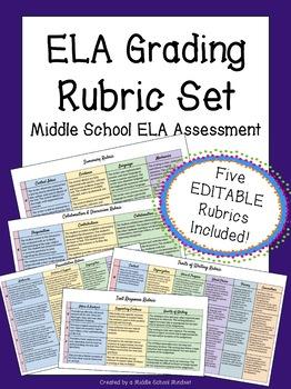ELA Reading & Writing Rubrics {Summary, Argument, Analysis
