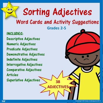 Adjectives Word Cards and Activities