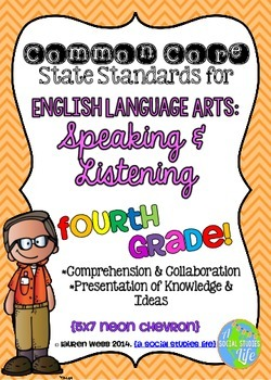 Common Core ELA Speaking and Listening Standards Posters 4