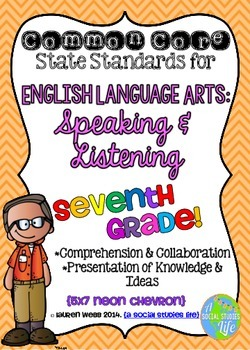 Common Core ELA Speaking and Listening Standards Posters 7