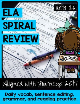 ELA Daily Practice - 30 Weeks - Units 1-6   Aligned with J