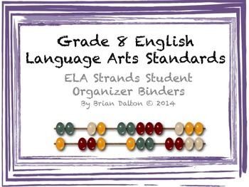 ELA Strands Student Organizer Binders