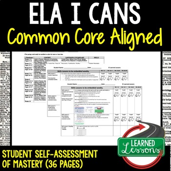 ELA Student Self-Assessment of Mastery Grades 6-8 Common C
