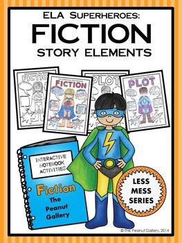 "ELA Superheroes: Fiction Story Elements (""Less Mess"" Inter"
