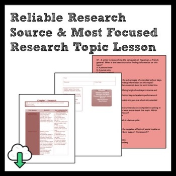 ELA: Reliable & Most Focused Research Mixed Practice