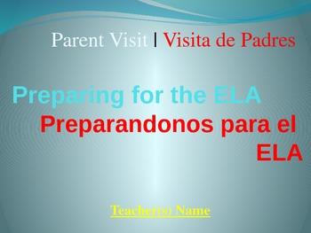 ELA Test Overview Presentation for Parent Visit in English