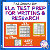 ELA Test Prep - Find Someone Who - Writing & Research Skills