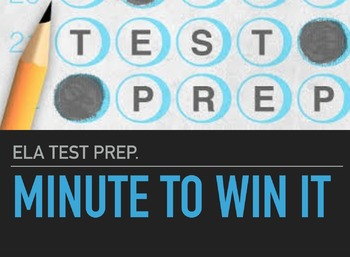 ELA Test Prep: Minute to Win It Challenges (Middle School