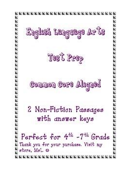 ELA Test Prep Passages