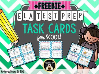 ELA Test Prep Task Cards {FREEBIE}