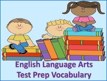 ELA Test Prep Vocabulary Flash Cards