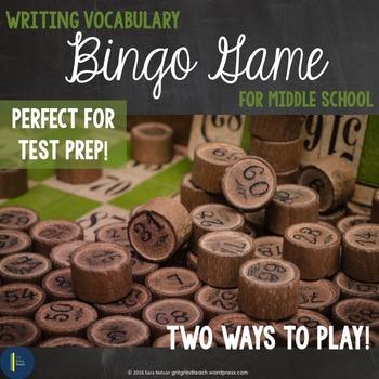 ELA Test Prep: Writing Bingo
