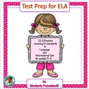 ELA Test Preparation Daily Sheets