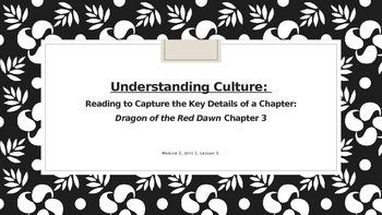 ELA Unit #1 Lesson #5 Understanding Culture