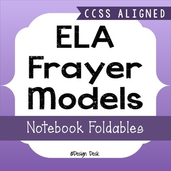 ELA Vocabulary Frayer Model Interactive Notebook Foldables ~ CCSS