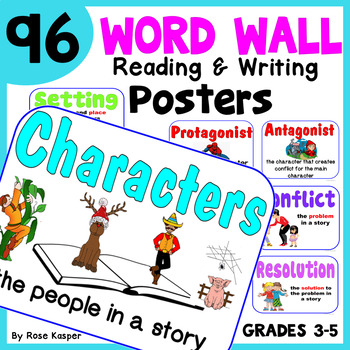 Word Wall Vocabulary Posters for ELA Grades 3, 4, and 5