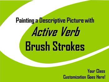 ELA WRITING: Active Verb BRUSH STROKE #1 Advanced & Varied