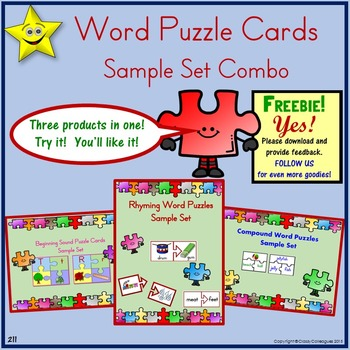 Word Puzzle Cards Sample Set Combo