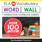 ELA Word Wall - Vocabulary Cards for English Language Arts