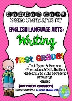 Common Core ELA Writing Posters 1st grade