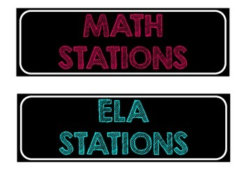 ELA and Math Center Rotations