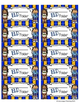 ELD Folder Labels