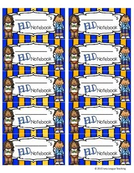 ELD Notebook Labels