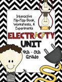 ELECTRICITY Unit Interactive Book, Worksheets, Experiments