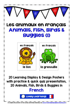 ELEMENTARY FRENCH - 20 ANIMALS (1) - DISPLAY & DESIGN POST