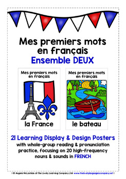 ELEMENTARY FRENCH FIRST WORDS (2) - 42 POSTERS & PRACTICE