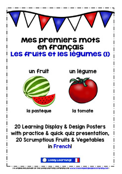 ELEMENTARY FRENCH FRUIT & VEGETABLES (1) - 40 POSTERS / PR