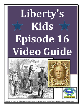 ELEMENTARY- Liberty's Kids Video Guide #16-One Life to Lose